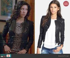 Rosa's leather jacket on Brooklyn Nine-Nine.  Outfit Details: http://wornontv.net/48342/ #Brooklyn99