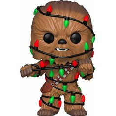 * From Star Wars, Chewie with Lights, as a stylized POP vinyl figure from Funko!* Stylized collectible stands nearly 10 cm tall, perfect for any Star Wars fan!* Collect and display all Star Wars POP! Chewbacca, Star Wars Navidad, Toy Pop, Figurine Star Wars, Star Wars Christmas, Christmas Lights, Xmas, Disney Christmas, Christmas Ornaments