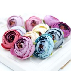 10PCS 3CM Silk Artificial Tea Rose Bud Flowers Head For Wedding Decoration DIY Wreath Gift Box Scrapbooking Craft Fake Flowers