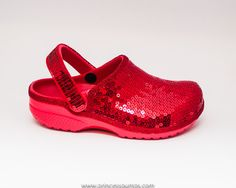 13c933233 Sequin Red Cayman Slip On Clogs Casual Shoes by princesspumps  crocs Sequin  Shoes