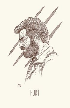 HURT by AndrewKwan.deviantart.com on @DeviantArt #wolverine #logan #hughjackman #movie #marvel #comics #illustration