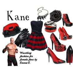 WWE Kane live event couture, created by emmakexxx on Polyvore haha!!  For Kane fangirls everywhere!!