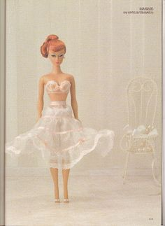 Free Copy of Book - Dollybird: full of patterns for lingerie. by Debbie Buxton Barbie Sewing Patterns, Doll Dress Patterns, Clothing Patterns, Lingerie Patterns, Barbie Et Ken, Free Barbie, Barbie Doll, Sewing Doll Clothes, Sewing Dolls