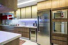 Resultado de imagem para cozinha vidro argentato madeira