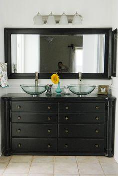 Old Dresser Turned Vanity                                                       …