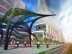 Vanke Park Avenue Sculpture Design - FoxLin Architects