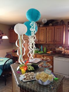 Under the Sea mermaid party paper lantern jellyfish--DesignLovesDetail