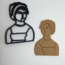 3D Jane Austen Cookie Cutter