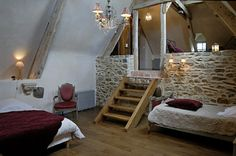 Interiors and decorations Shabby, Decoration, Stairs, Villeneuve, Places, House, Furniture, Beautiful, Bedrooms