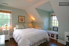 8 Bliss Tricks: Girls Bedroom Remodel Shelves bedroom remodel on a budget spaces.Attic Bedroom Remodel Shelves kids bedroom remodel built ins. Eaves Bedroom, Dormer Bedroom, Bedroom Windows, Bedroom Loft, Girls Bedroom, Bedroom Decor, Bedroom Ideas, Bedroom Apartment, Apartment Therapy