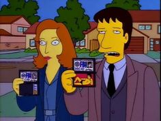xfiles Scully and Mulder on The Simpsons