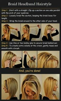How to make a braided head band