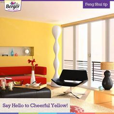 The most optimistic colour yellow, is indeed pleasant to look at. Add a splash of #yellow in your bedroom and wake up with a cheerful mood every morning. #FengShui #FengShuiForHome bit.ly/FengShuiBerger Feng Shui Tips For Home, Feng Shui House, Colour Yellow, Egg Chair, Floor Chair, Mood, Bedroom, Furniture, Home Decor