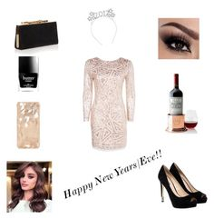 """""""The last set of 2016 ♡♡"""" by hannia98 ❤ liked on Polyvore featuring Boohoo, GUESS, Mark & Graham, Jimmy Choo and Butter London"""