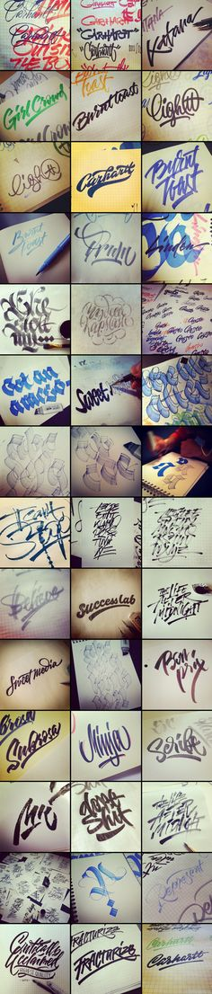 Process by Sergey Shapiro, via Behance The process almost always have some magic. #Typography #Lettering #Calligraphy
