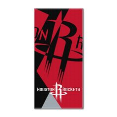 """Rockets National Basketball League, """"""""Puzzle"""""""" 34""""""""x 72"""""""" Over-sized Beach Towel"""