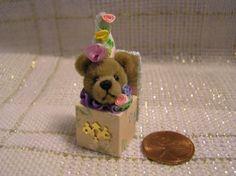World-of-Miniature-Bears-JACK-in-the-BOX-1-25-Mini-Handcrafted-Bear-toy Bear Toy, Teddy Bear, Jack In The Box, Bears, Miniatures, Toys, Activity Toys, Clearance Toys, Teddy Bears