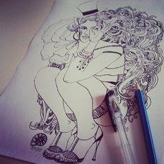 #circus #Cirque #pen #drawing