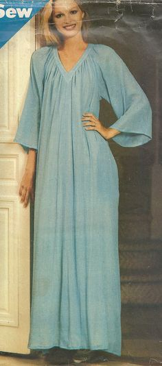 Loose fitting caftan Butterick vintage sewing pattern by Iam4uk