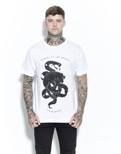 Beware Of The Snakes T-Shirt White