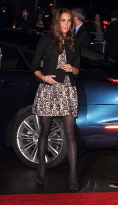 Kate Middleton wearing a Zara dress with a Ralph Lauren jacket. Dec 6th.