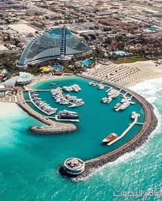 The iconic @jumeirahbh and marina