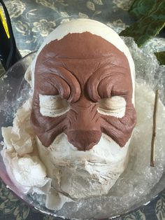 I made the bridge of the nose broader, so it resembles a wolf more. I had reference to other images of sculptures of wolf prosthetics to help me in designing my sculpt. I am now happy with this sculpt and the amount of detail that I have created. I am not going to have to wait to go back to Uni to create my mould and appliances.
