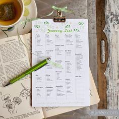 DIY Grocery List Pad~ this would make a great gift!