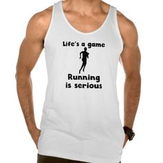 Running Is Serious Tanks Tank Tops