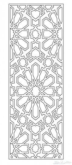 Drawings of iron doors and doors Islamic Motifs, Islamic Art Pattern, Pattern Art, Cricut Stencils, Stencil Templates, Geometric Drawing, Geometric Art, Metal Artwork, Metal Wall Art