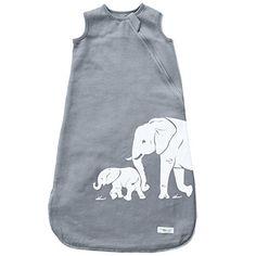 Wee Urban Cozy Basics Four Season Baby Sleeping Bag, Grey Elephants, Small 0-6 Months - $29.00