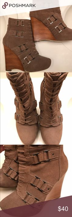 Carlos Santana Wedge ankle boots Wedge Ankle Boots.  Never worn! Carlos Santana Shoes Ankle Boots & Booties