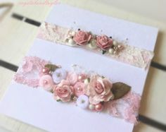 Ready to Ship Set of Floral Tie Back Headbands by crystalandtaylor