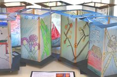 Laburnum PS Art Show – Art Around the World Japanese Lanterns To get the children inspired and engaged with the Japanese festival of lanterns we looked through the history and examples on t… Japan For Kids, Art For Kids, Folded Book Art, Book Folding, World Art Day, Book Sculpture, Paper Sculptures, Lantern Crafts, Art Rubric