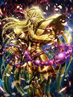 Cavaleiro de Ouro Shaka de Virgem by on Saint Seiya Manga Anime, Art Manga, All Anime, Anime Guys, Cameleon Art, Anime Saint, Virgo, Aquarius, Manga Font