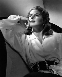 """Ingrid Bergman in a publicity shot for """"Notorious"""""""
