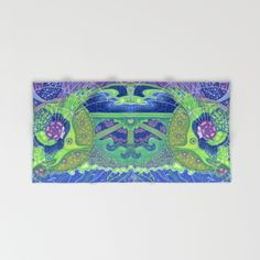 New products on Society 6 - towels. Free Worldwide Shipping on Beach + Bath Towels!  #society6 #towels #towel #print #freeshipping #art #surreal #visionary #fullmoon #aquatic #fantasy #imagination #fantastic #blue #green #blueandgreen #fish #mermaid