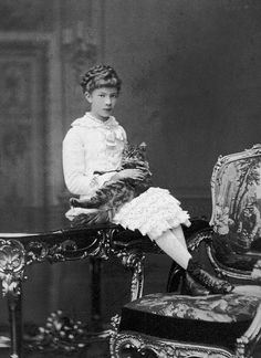 Archduchess Marie Valerie of Austria and Her Cat