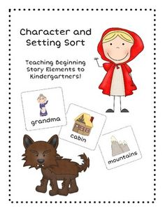 Kinder Character and Setting Sort
