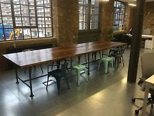 Extra Large Boardroom/ Dining Table with Vintage Industrial Gas Pipe Frame Reclaimed Dining Table, Rustic Table, Pipe Table, A Table, Gas Pipe, Meeting Table, Oak Color, Big Kitchen, Cabin Design