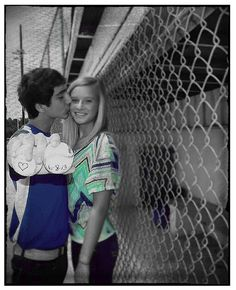 Sports photography idea baseball picture young love