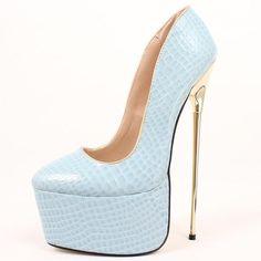 Platform Pumps, Women's Pumps, Pump Shoes, Shoe Boots, Night Club, Pu Leather, Peep Toe, High Heels, Slip On