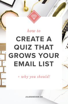 How to create a quiz that grows your email list + why you should! Interactive quizzes are an excellent way to get to know your audience so that you can nurture that connection later on. An effective quiz will grow your email list while also driving traffic, leads, and sales your way. Luckily, they are also a ton of fun for your audience to take! E-mail Marketing, Best Email Marketing Software, Email Marketing Design, Email Marketing Campaign, Digital Marketing Strategy, Content Marketing, Internet Marketing, Online Marketing, Marketing Strategies