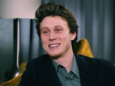 """""""Tune in at 6 pm to see George Mackay's interview at He talks about his new movie 'True History of the Kelly Gang'. George Mackay, Many Men, Favorite Person, New Movies, Celebrity Crush, How To Look Better, Interview, Funny Memes"""