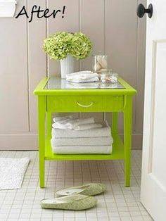 DIY furniture makeover... love this piece