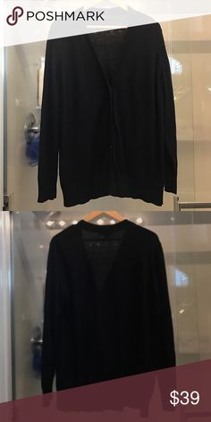 Ann Taylor black long boyfriend cardigan XL Cute Ann Taylor black boyfriend cardigan. V neck. Worn but in good condition. Minor pilling on the arms. XL Ann Taylor Sweaters Cardigans