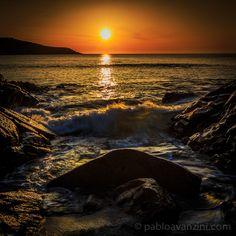 Sunset on Chanteiro Beach Galicia Spain - Pablo Avanzini