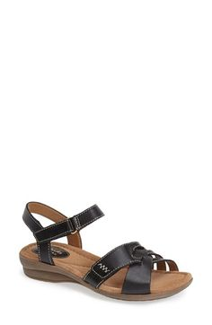 Clarks®+'Reid+Laguna'+Leather+Sandal+(Women)+available+at+#Nordstrom