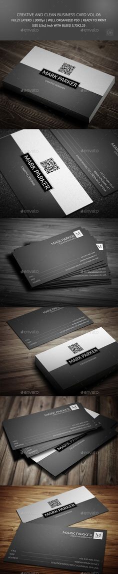 Buy Creative and Clean Business Card by pixelleague on GraphicRiver. Black and White professional style cool business card template. Features : CMYK Color High Resolution Graphic River R. Cleaning Business Cards, Printable Business Cards, Free Business Card Templates, Minimalist Business Cards, Cool Business Cards, Business Card Design, Creative Business, Web Design Inspiration, Clean Clean