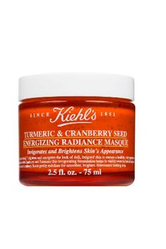 This mask (which doubles as an exfoliant thanks to the addition of nubby cranberry seeds) is a foolproof way to use turmeric without temporarily dyeing your face yellow. You'll also notice that your skin is brighter, clearer, and softer.Kiehl's Turmeric